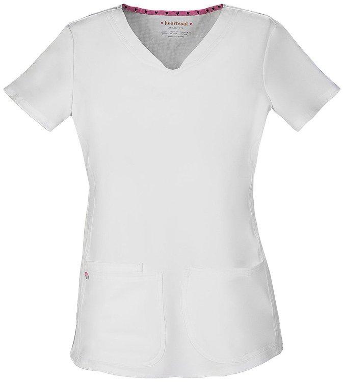 bluza medyczna biała spandex