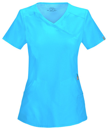 Antybakteryjna bluza medyczna damska turkusowa Cherokee Infinity 2625A