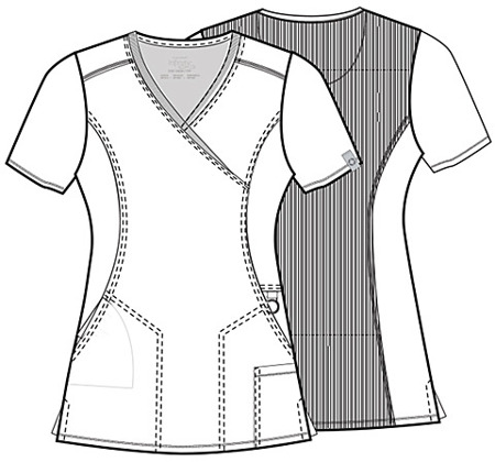 Antybakteryjna damska bluza medyczna błękitna  Cherokee Infinity 2625A