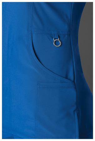 Antybakteryjna damska bluza medyczna niebieska  Cherokee Infinity 2625A