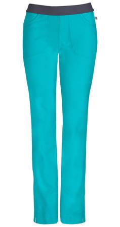 Antybakteryjne damskie spodnie medyczne zielone Cherokee Infinity 1124AP (Petit) wersja krótsza