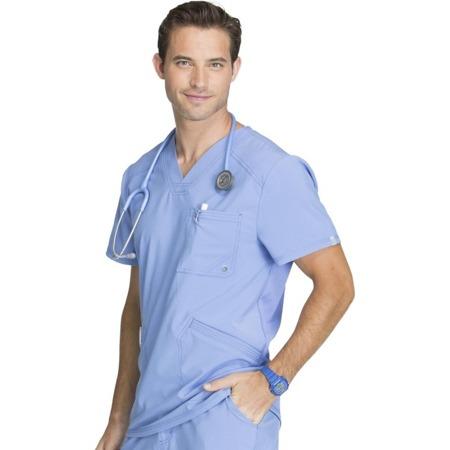Bluza medyczna męska błękitna