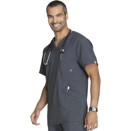 Bluza medyczna męska grafitowa