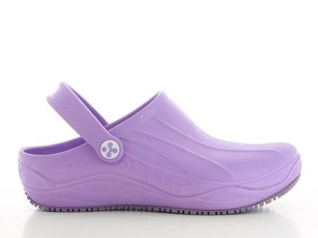 Fioletowe antybakteryjne obuwie medyczne Oxypas Smooth
