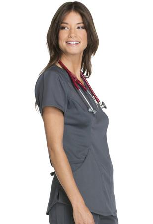 Grafitowa bluza medyczna Cherokee Luxe CK603 Sport